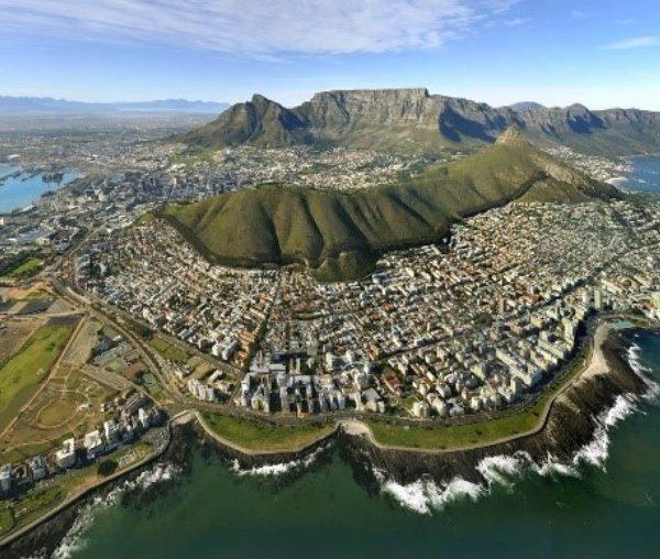 Een blok op Tafelberg